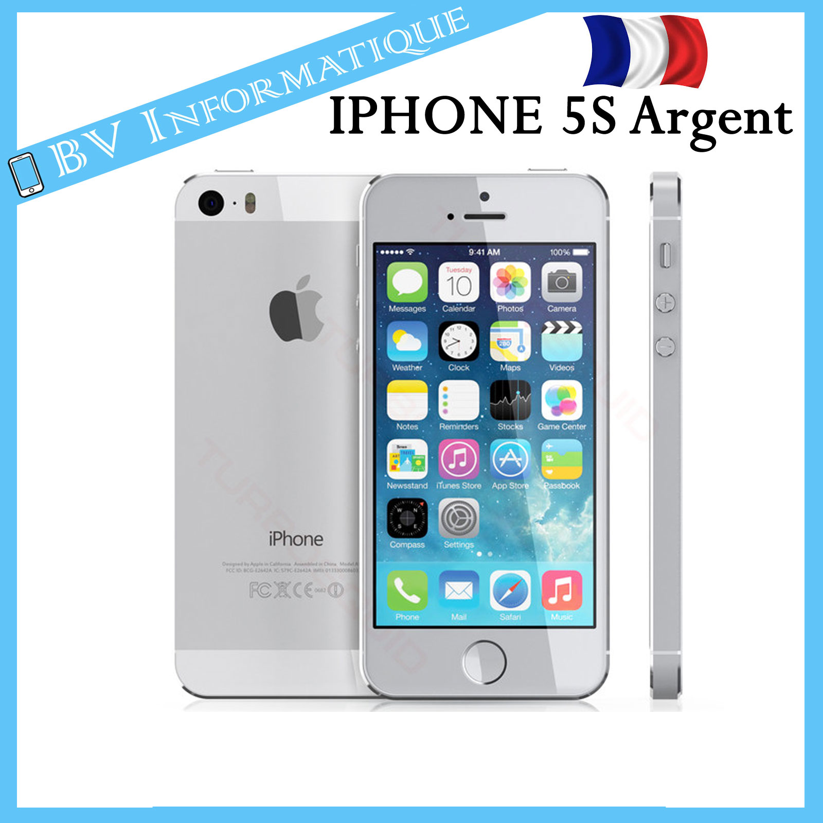 apple iphone 5s 16 go argent d bloqu tout op rateur garantie 6 mois ebay. Black Bedroom Furniture Sets. Home Design Ideas